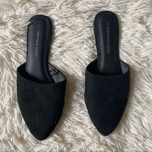 ◾️3/$25 Streetwear Society Slip On Black Mules
